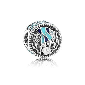 96c828c5a Amazon.com: Pandora Sterling Silver Multi-Colored Ocean Life Charm ...