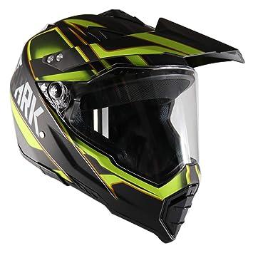 GHL Casco de Moto Carretera Off-Road Racing Coche de Doble Uso Lente de Cara
