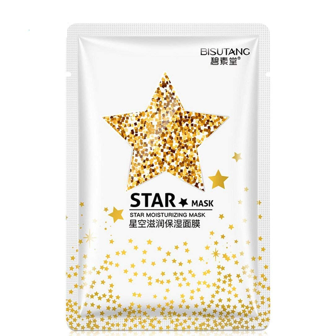 Maschera facciale di lusso star glitter maschera idratante Oro puntini neri Remover Rimuovere Nero Facial Mask Beauty Monllack