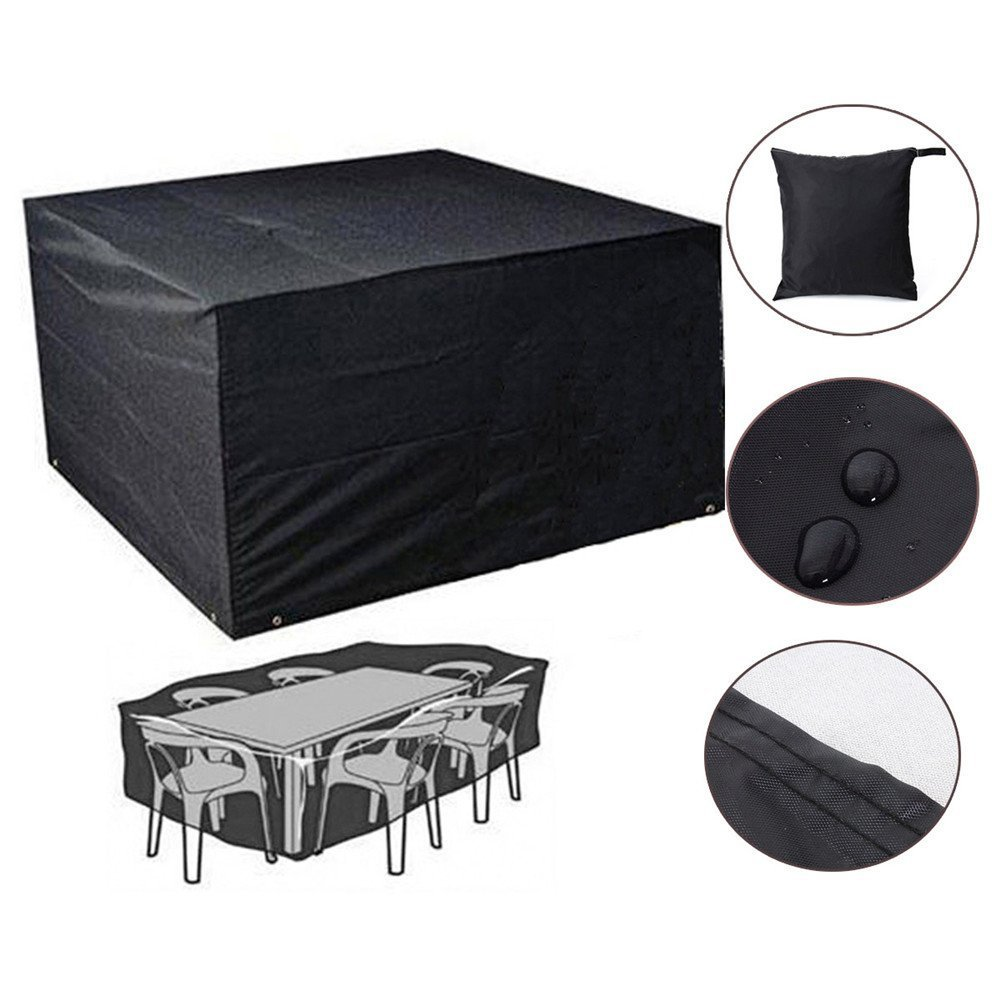 Furniture Cover, Garden Waterproof Patio Table Cover Furniture Set Cover Protection Beisaqi