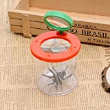 Kids Insect Viewer 2X 5X Magnifying Glass Loupe Backyard Bug Catcher Box with False Spider,Nature Exploration Science and Viewer Microscope,Transparent Insect Magnifier for Bugs,Rocks,Plants,Seeds