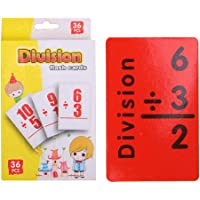 Mathematics Learning Flash Cards Questionno 36pcs Math Card Kids English Learn Arithmetic Early Education Toy (Division