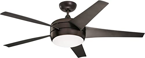 Emerson CF955LORB Midway Eco 54-inch Modern Ceiling Fan, 5-Blade Ceiling Fan with LED Lighting and 6-Speed Remote Control