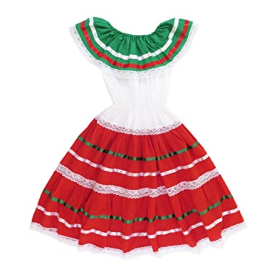 7b76c660c0c Amazon.com  Mexican Clothing Co Womens Mexican Fiesta Dress Poplin one Size  Black Midi 1445  Clothing