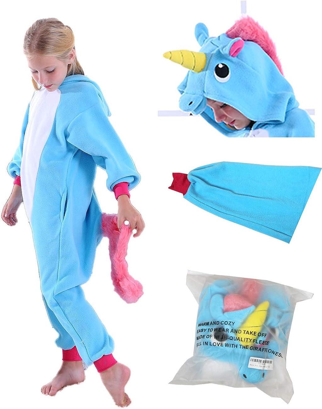 Halloween One Piece Cosplay Costume Kids Animal Onesie Pajamas for Girls and Boys