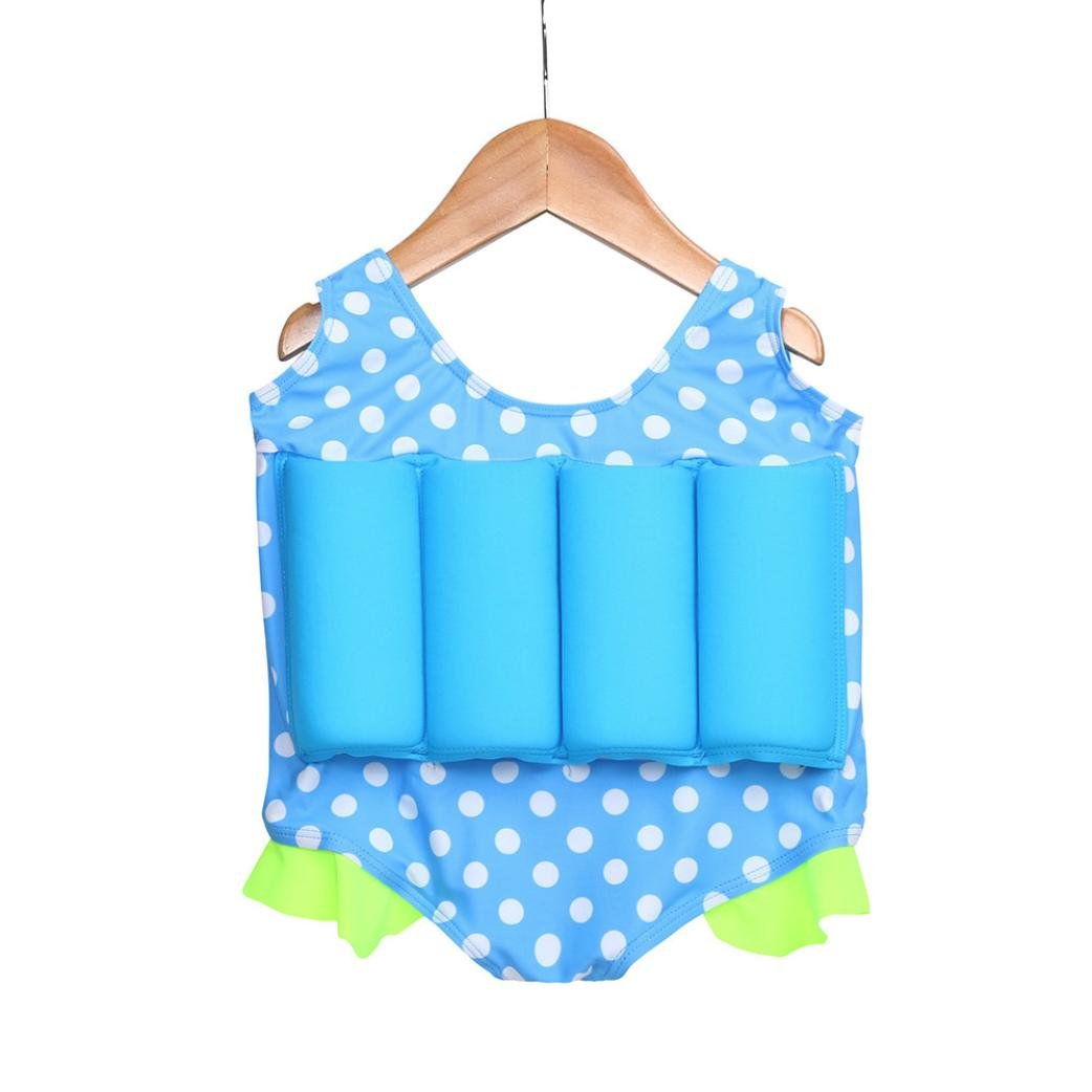 suma-ma Buoyant Prevent Drowning ,Toddler Kid Swimwear Cartoon Conjoined, Swimsuit Romper Beach Bathing (XL, Blue)