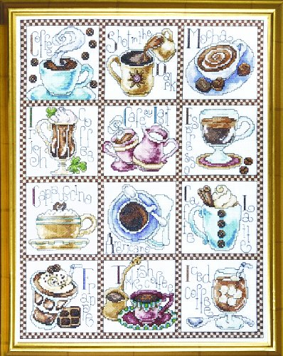 (Design Works Crafts Counted Cross Stitch, Coffee Break, 12 x 14 Inches)