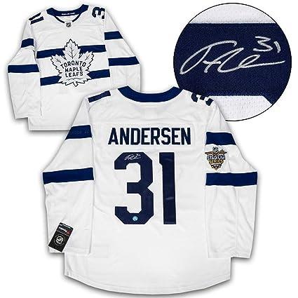 lowest price 8d8dd 7c636 Autographed Frederik Andersen Jersey - Stadium Series ...