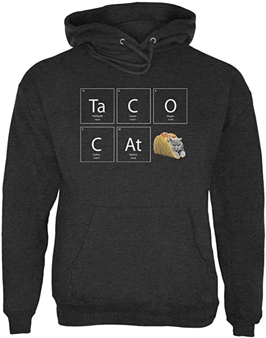 Taco Cat Periodic Table Mens Hoodie