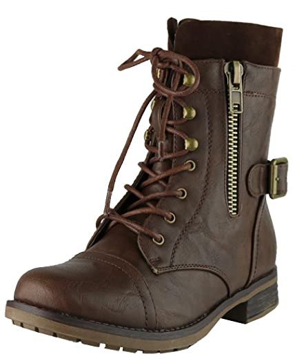 Women's Combat Moto Inside Zipper Ankle Bootie