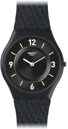 Swatch Reloj Análogo clásico para Unisex de Cuarzo con Correa en Cuero SFN123: Amazon.es: Relojes