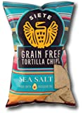 Siete Sea Salt Tortilla Chips, Grain Free, Paleo, Vegan - 5 Ounce (1 Pack)