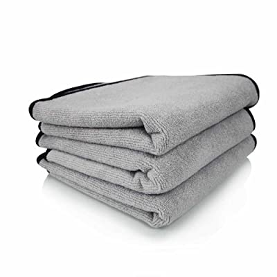 Chemical Guys MIC_102_43 Ultra Plush Micro-Cotton Microfiber Towel, Gray (17 in. x 24 in.) (Pack of 3): Automotive