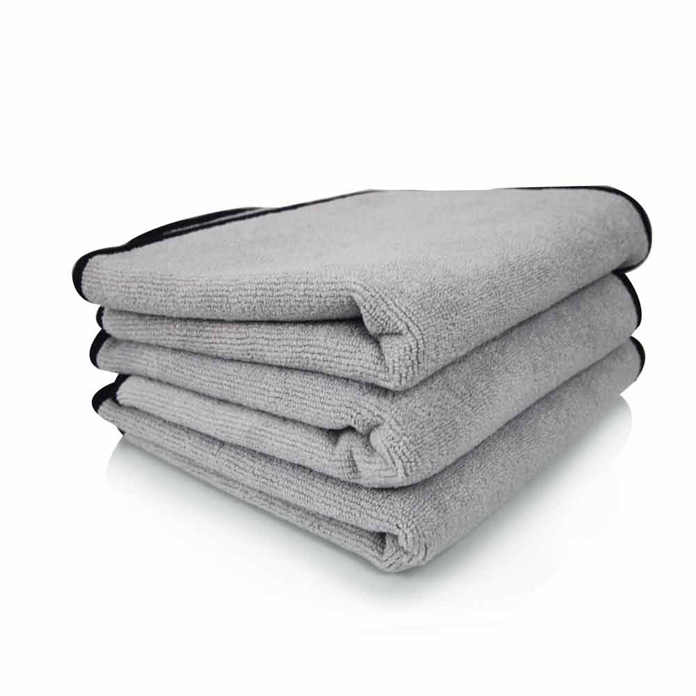 Chemical Guys MIC_102_43 Ultra Plush Micro-Cotton Microfiber Towel, Gray (17 in. x 24 in.) (Pack of 3)