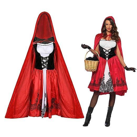 ACORRA Disfraz de Ca ucita Roja para Mujer Ropa de Mujer ...