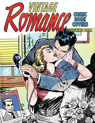 Vintage Romance Comic Book Covers Coloring Book