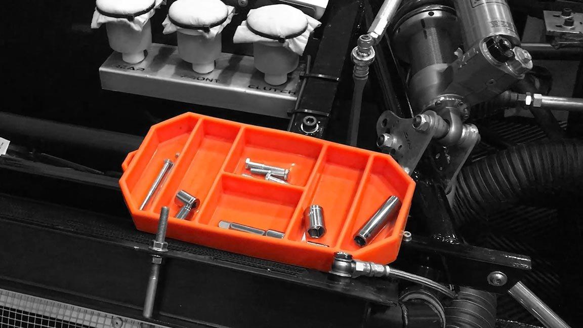 Grypmat | Non-Slip Flexible Orange Tool Tray | Tool Box Organizer | Socket Organizer | Tool Holder | Tool Mats | No Magnets | Easy Clean Up | As Seen On Shark Tank (Small) by Grypshon (Image #6)