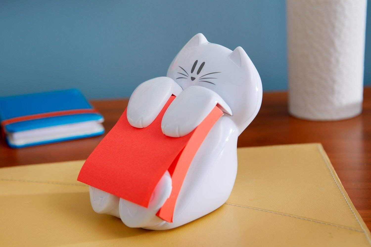 Post-it Cat Figure Pop-up Note Dispenser, 3 inch x 3 inch, (CAT-330), Colors May Vary by Post-it