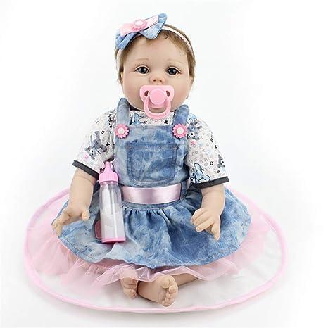 Lindo y realista Bebé recién nacido Muñeca con ropa Vestido ...