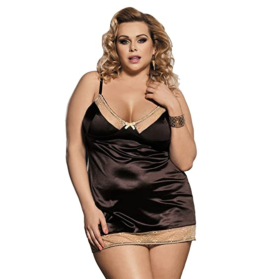 Amazon Hever Plus Size Womens Sexy Babydoll Dress Bottom Lace