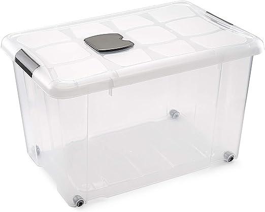 Metaltex - Caja de Ordenación con Ruedas 55 L (59 x 40 x 35 cm ...