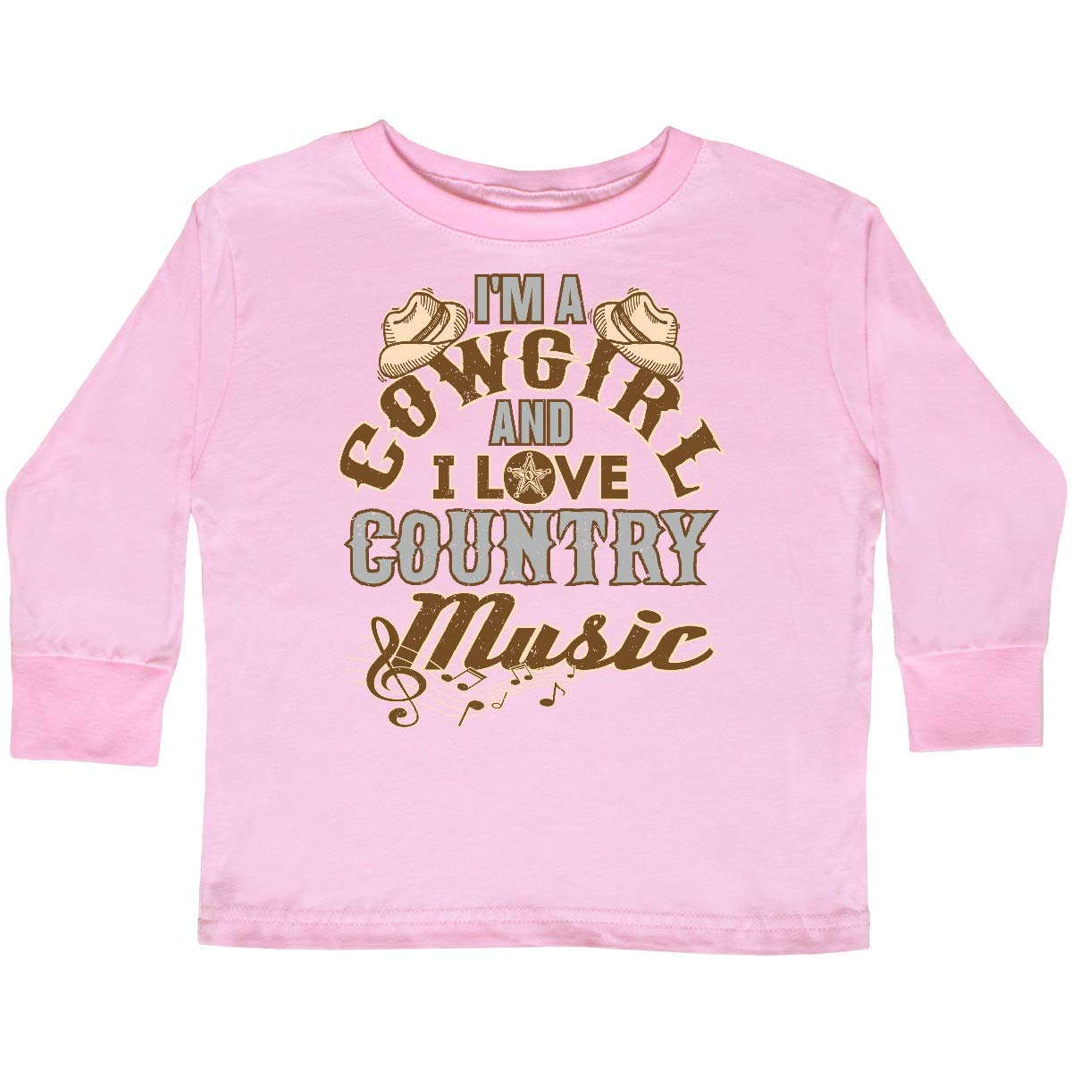 inktastic Cowgirl Country Music Lover Toddler Long Sleeve T-Shirt