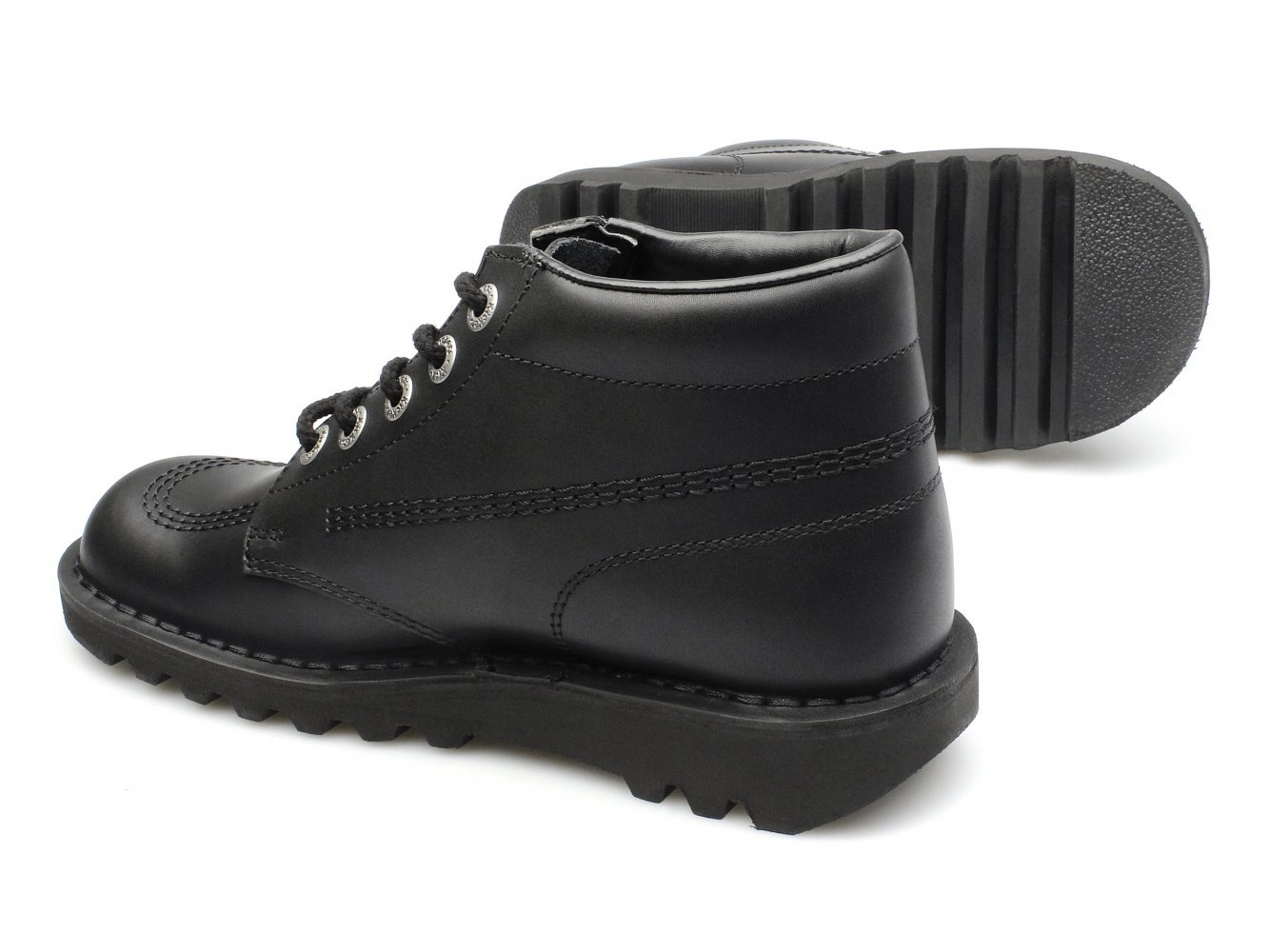 KICK HI M CORE Mens Leather Lace-Up Boots Black: Amazon.co.uk: Shoes & Bags