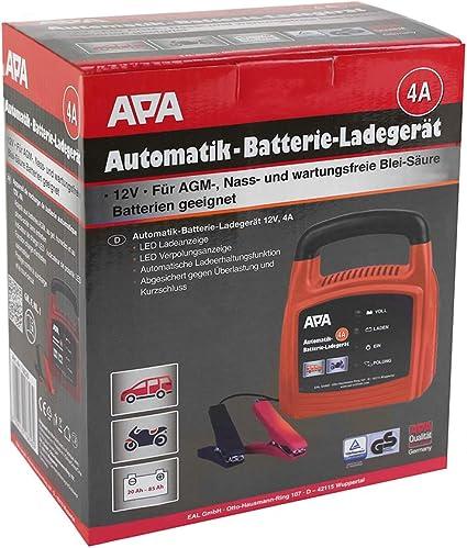 Apa 16626 16626 Automatik Batterie Ladegerät 12 V 4 A Auto