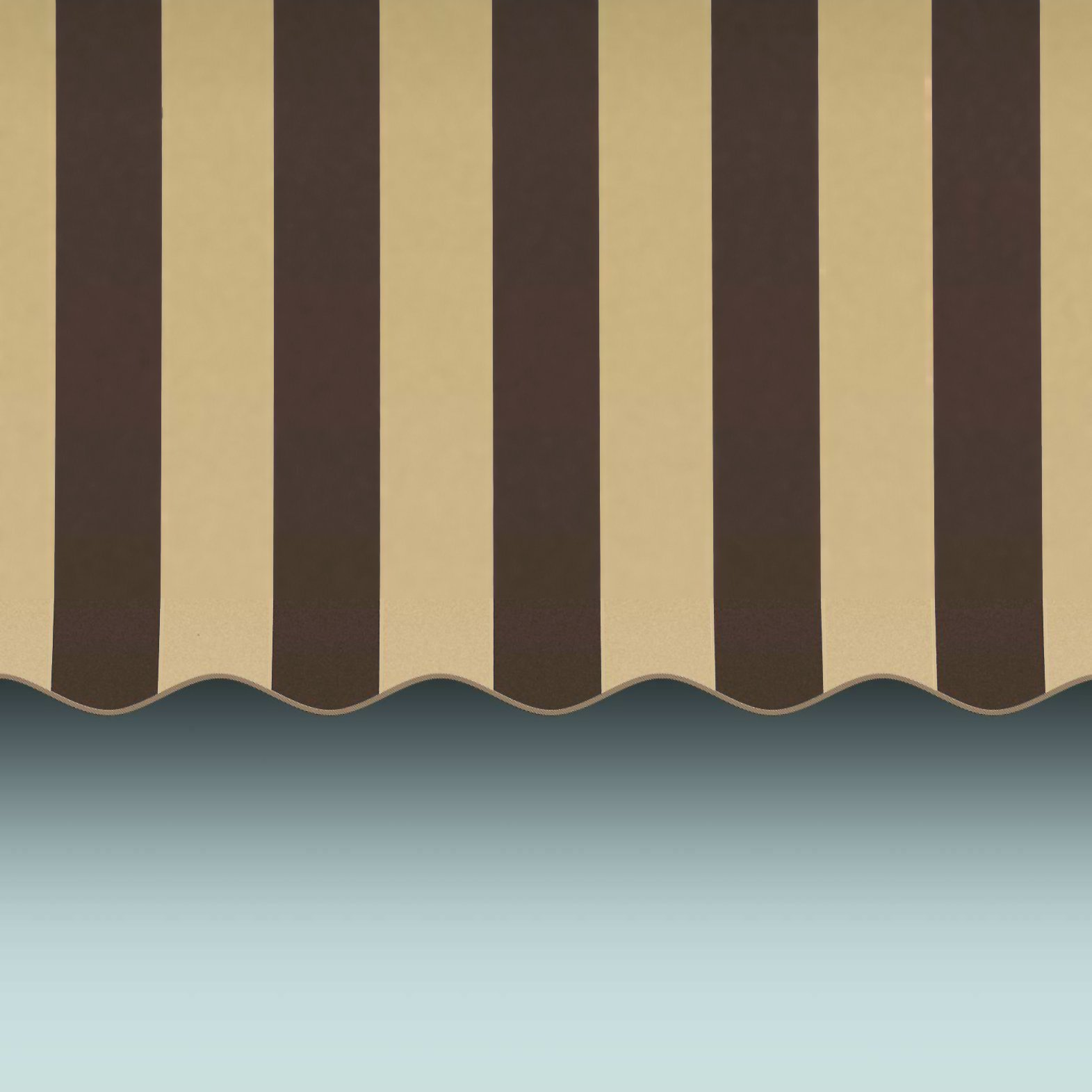 Awntech 3-Feet Dallas Retro Window/Entry Awning, 44 by 24-Inch, Brown/Tan