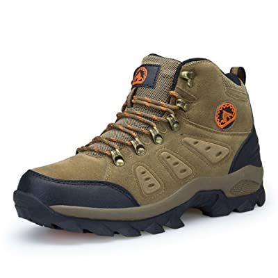 3C Camel Mens Waterproof Lightweight Breathable Leather mid Boots | Hiking Boots