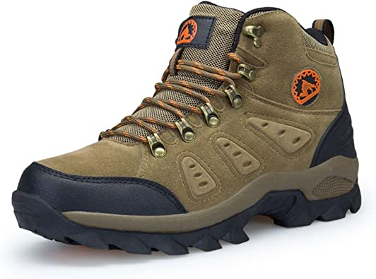 3C Camel Mens Waterproof Lightweight Breathable Leather Low Top Hiking Shoes Sneakers