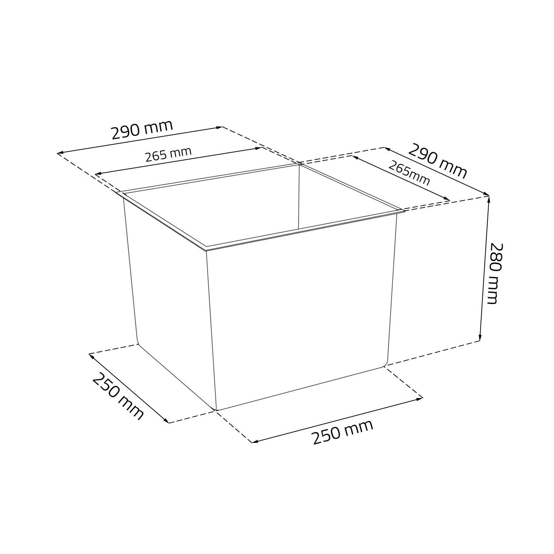 Blumenkasten Balkonkasten Pflanztrog inkl Einsatz Modernstruktur weiss Kunststoff H 30,5 cm Juka