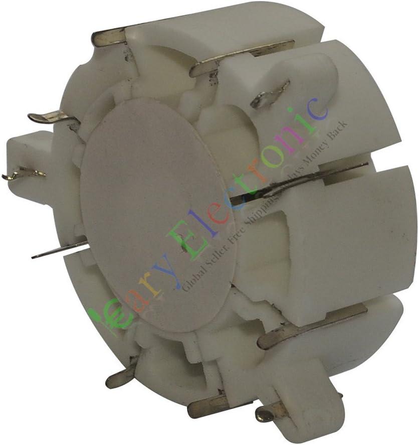 cayyi 2pieza 8Pin cerámica tubo de vacío sockets HIFI amplificador de audio Radio DIY Guitarra Parte