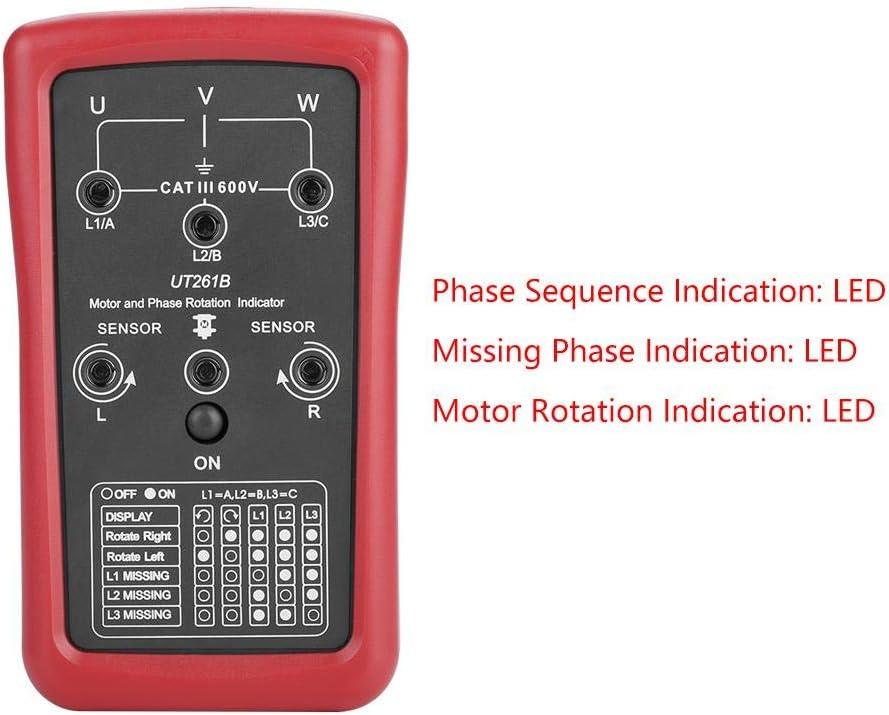 600V AC avec indicateurs LED UNI-T UT261B 3 phases testeur de s/équence moteur indicateur de rotation testeur testeur 90V Indicateur de rotation du moteur et de phase