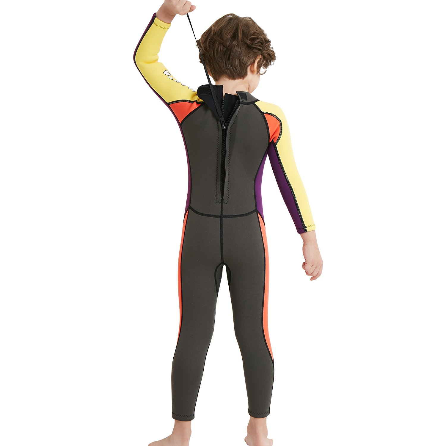 NATYFLY Neoprene Wetsuits for Kids Boys Girls Back Zipper One Piece Swimsuit UV Protection-Brand