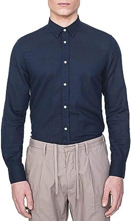 Antony Morato Camisa Basic Azul para Hombre 56: Amazon.es: Ropa y accesorios