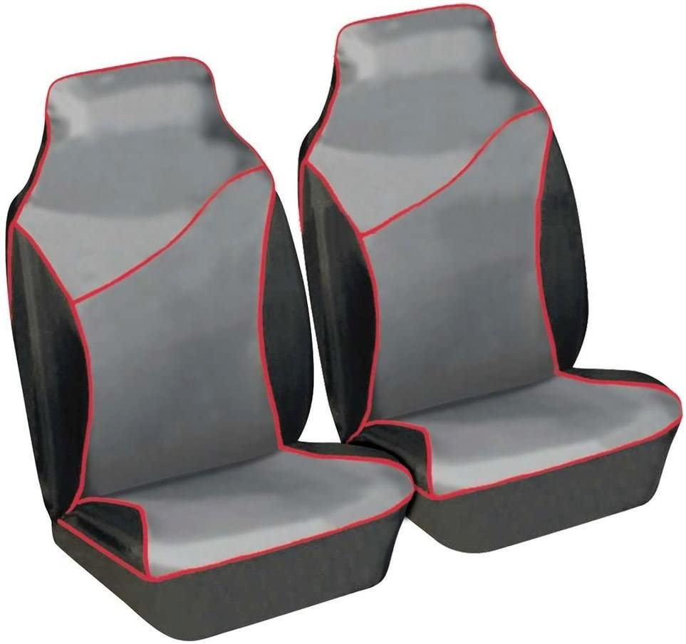 Wing Mirrors World Mercedes Citan Front Seat Protectors Heavy Duty Waterproof Cover Grey Red Pair