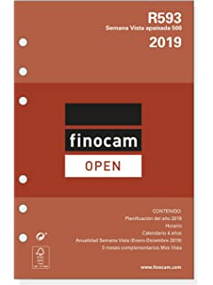 Recambio Agenda Finocam Open Rayado Horizontal (500): Amazon ...