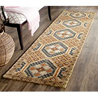 Safavieh Issac Mizrahi Collection IMR509A Handmade Camel and Multi Premium Wool Runner (23 x 8)