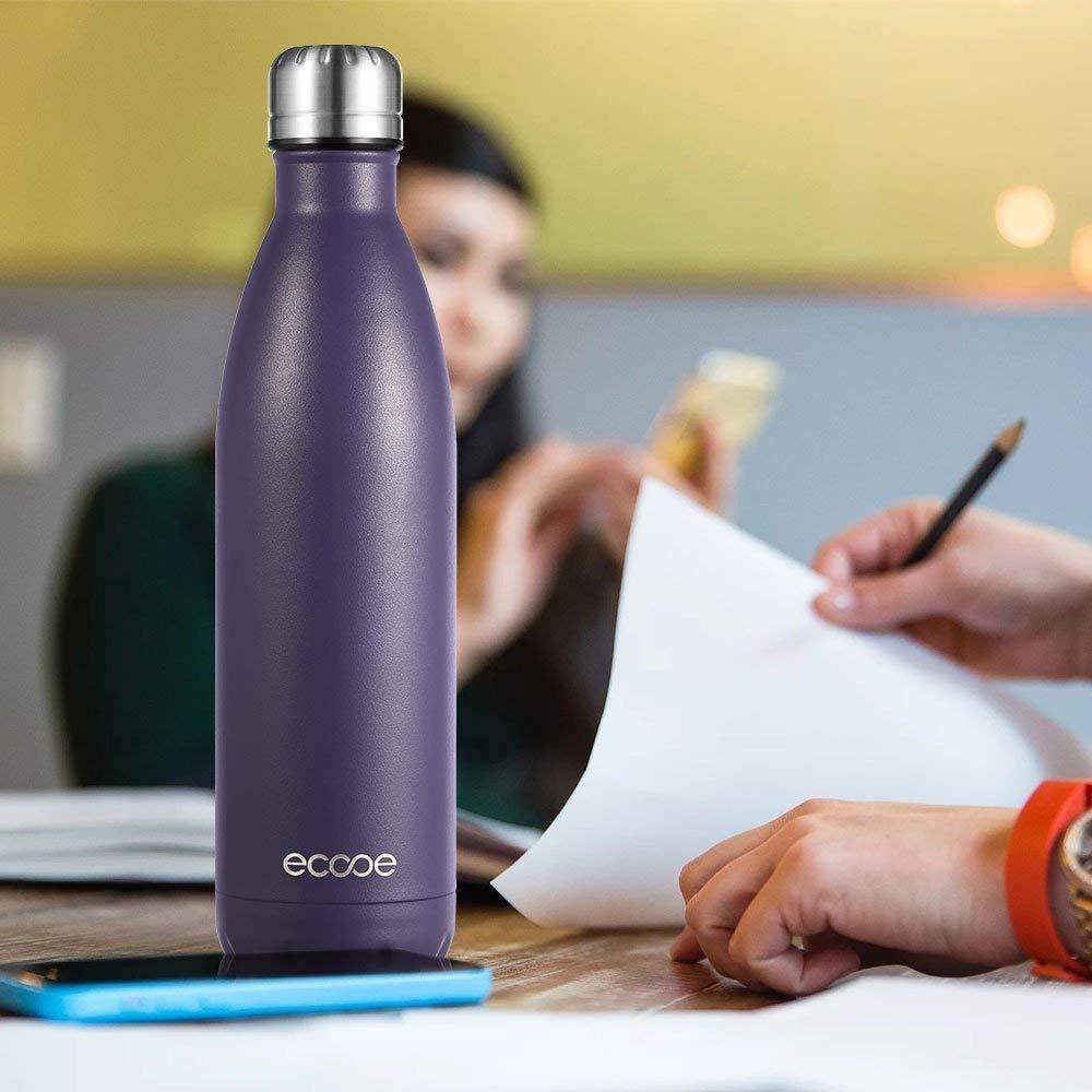 Ecooe Botella t/érmica de acero inoxidable Azul 750 ml para bebidas fr/ías y calientes
