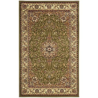 """Safavieh Lyndhurst Collection LNH329A Traditional Medallion Black and Ivory Runner (2'3"""" x 12')"""
