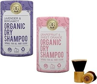 product image for Green & Gorgeous Organics Dry Shampoo - Lavender & Bergamot and Grapefruit & Sweet Orange 2 Pack, 1 oz each with Powder Brush