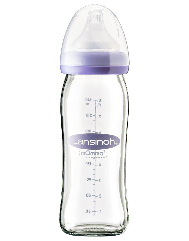 Glass Baby Bottle with NaturalWave Medium Flow Teat Lansinoh (240 ml) Lansinoh Laboratories Inc. UK 77150
