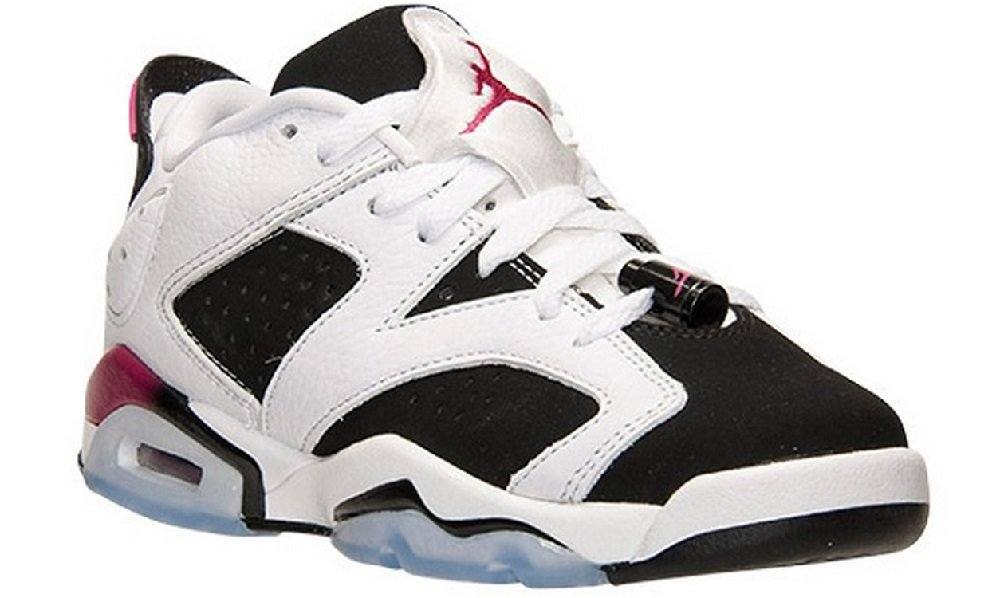 NIKE Air Jordan 6 Retro Low GG 768878 107 WhiteFuchsiaBlack Kids Basketball Shoes (7)