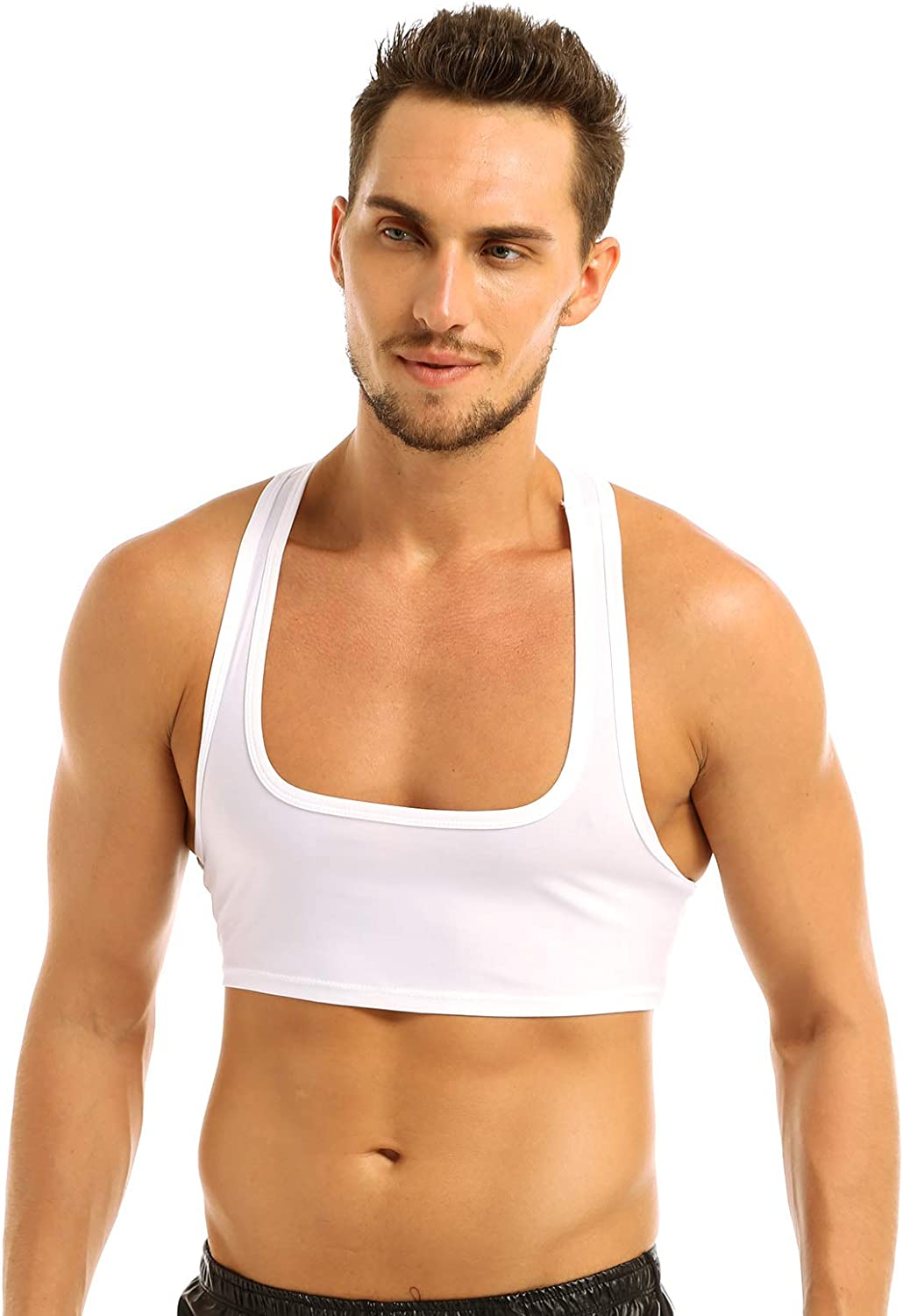 CHICTRY Mens Sleeveless Y Back Bodybuilding Stringer Tank Top Shirts Crop Tops