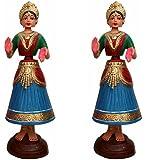 "Tanjore Dancing Dolls {Set Of 2} 12""inch"