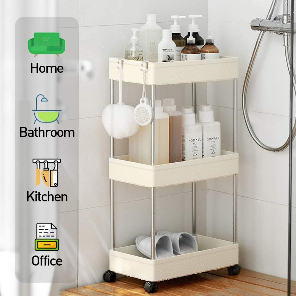 Amazon coupon code for Storage Rolling Carts 3-Tier Mobile Shelving Unit