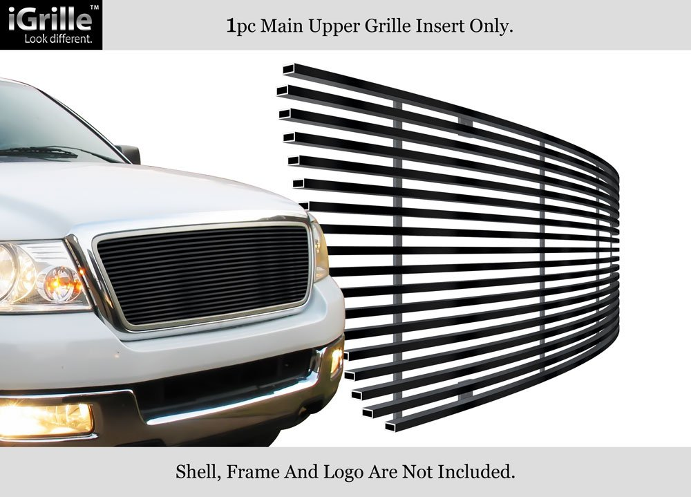 Grille Assembly Compatible with 2004-2008 Ford F-150 Chrome Shell//Beige Honeycomb Insert New Body Style