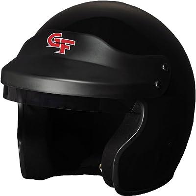 G-Force 3121LRGBK GF1 Open Face Helmet, Large, Black: Automotive
