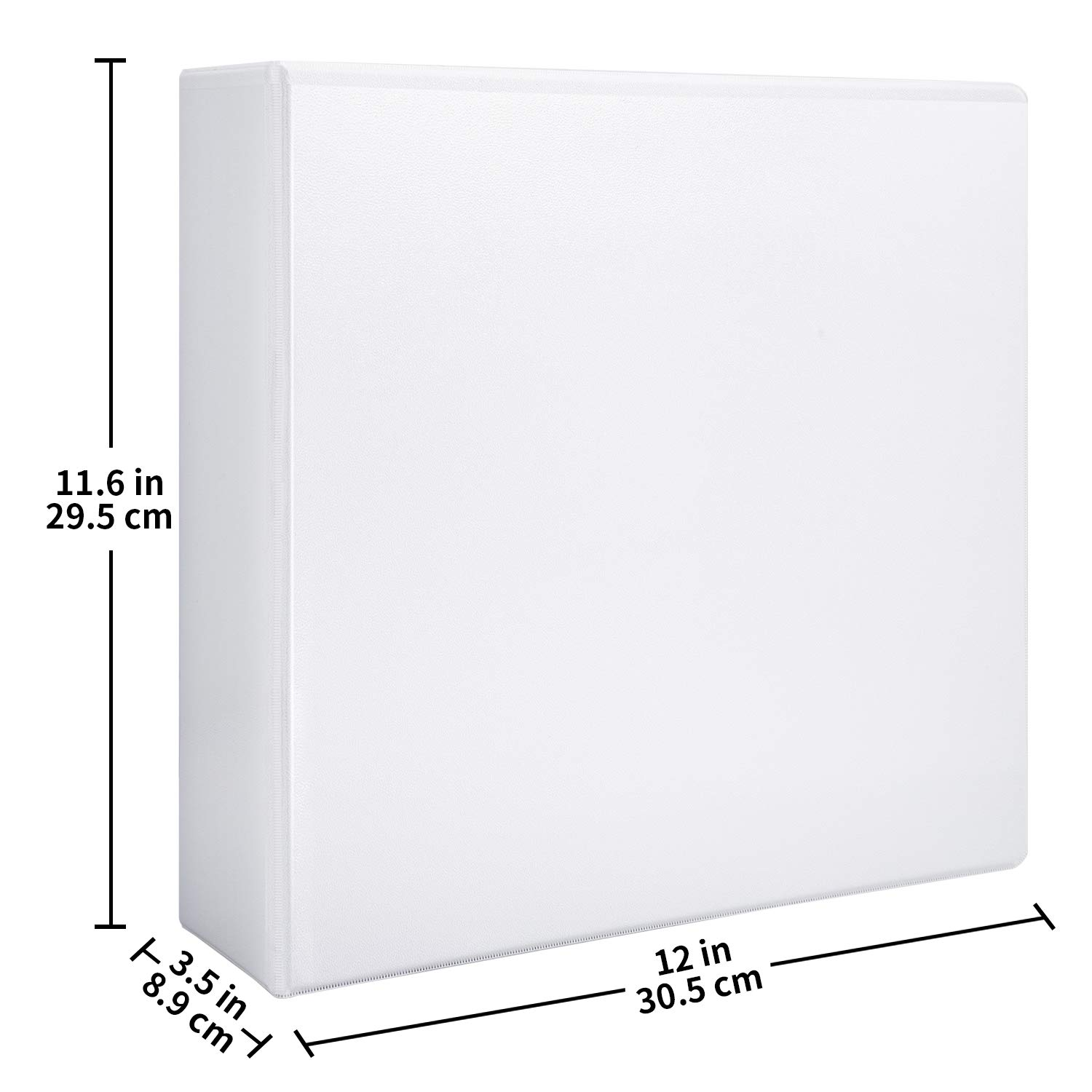 Basics Heavy Duty View Binder 3One Touch Rings White 2//Pack